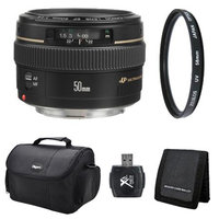 Canon EF 50mm F/1.4 USM Lens for Canon SLR Cameras Exclusive Pro Kit