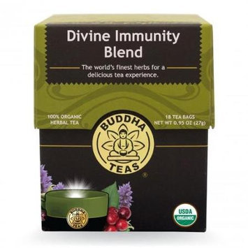 Buddha Teas Divine Immunity Blend 100 Percent Organic Herbal Tea 18 Bags Per Packet
