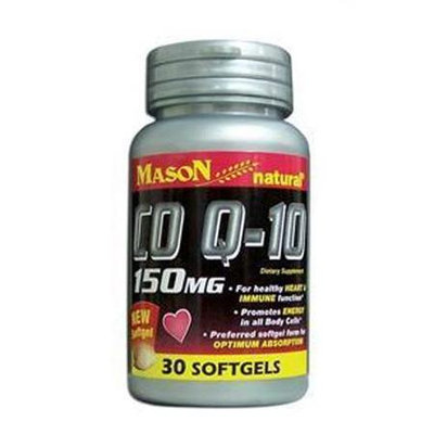 Mason Natural, Co Q-10 150 mg, 30 Softgels