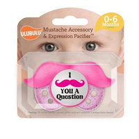 Ulubulu MP-06-99-H-2-002 0 - 6 Month - Pink Mustache Pacifier & Accessory Pack Of 4