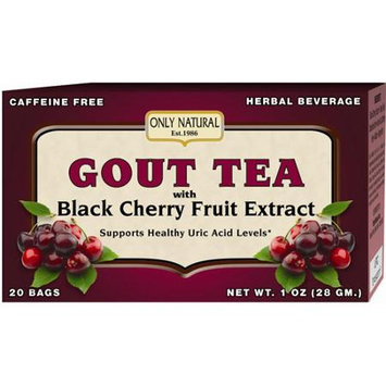 Only Natural Gout Tea with Black Cherry Fruit Extract 20 Tea Bags