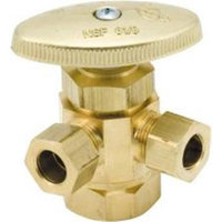 Watts Water Technologies 902237Lf Dual Outlet Angle Stop .5 In. X.35 In. X.35 In. Lead Free