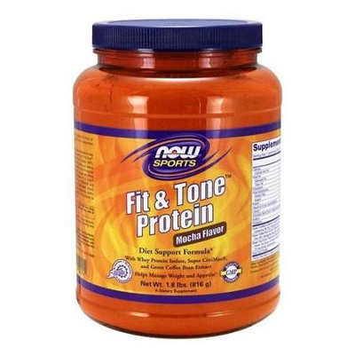Fit & Tone Protein - Mocha Flavor Now Foods 1.8 lb Powder