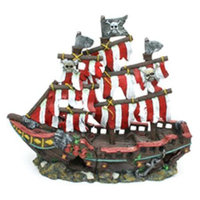 Penn-plax Inc. Penn Plax Striped Sail Shipwreck Aquarium Ornament