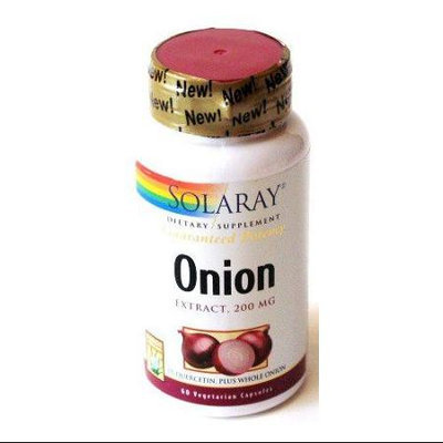 Solaray Onion 200 mg - 60 Vegetarian Capsules