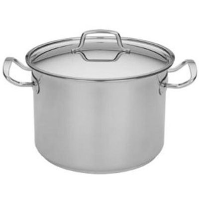 MIU France 95035 Stock Pot - 8 Quart With Lid In Stainless