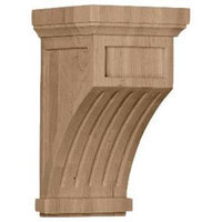 Ekena Millwork 7-in x 13-in Maple Fluted Mission Wood Corbel