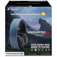 Uncharted 4: A Thief's End Limited Edition Gold Wireless 7.1 Headset - Gray Blue