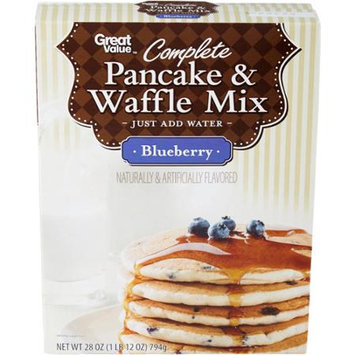 Great Value: Complete Blueberry Pancake And Waffle Mix, 28 Oz