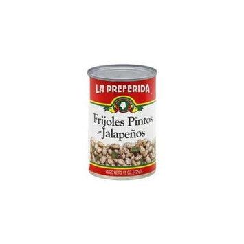 La Preferida Bean Pinto Jalapeno, 15 Oz. Case of 12