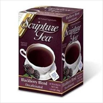 Scripture Tea 62490 Scripture Tea Blackberry Decaf Tea 6 Bx Of 20