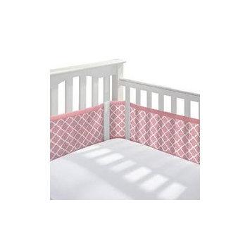 Breathable Baby Quatrefoil Mesh Crib Liner, Brt Orange