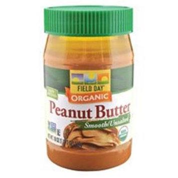 Field Day B07027 Field Day Organic Easy Spread Peanut Butter, Smooth, No Salt -12x18oz