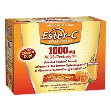 American Health Ester-C Effervescent Plus Electrolytes Natural Orange 1000 mg - 21 Packets