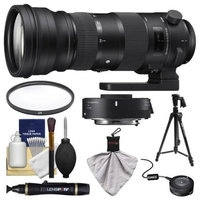 Sigma 150-600mm f/5.0-6.3 Sports DG OS HSM Zoom Lens & 1.4x Teleconverter (for Canon EOS) with USB Dock + Pistol Grip Tripod + Filter + Kit