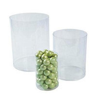 Fun Express 13630491 Plastic Clear Candy Cylinders