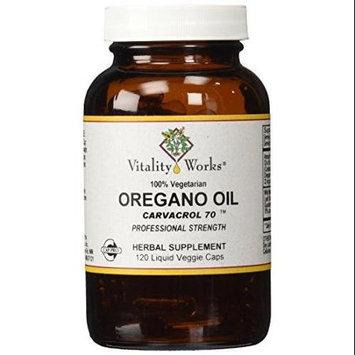 Vitality Works, Oregano Oil Carvacrol 70, 120 Veggie Caps