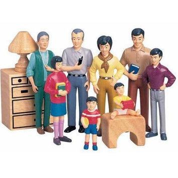Childcraft Pretend Play Family Asian Dolls Set - 1 3/4 to 5 inches tall - Set of 8