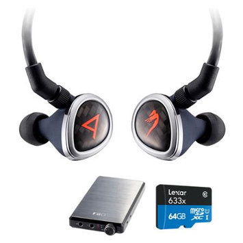 Astell & Kern Special Edition Roxanne II Blk Headphones by JH Audio w/ FiiO E12 Pro Amp Bundle
