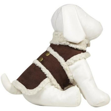 Ethical Products Inc Ethical Shearling Dog Coat Extra Large Brown 751197