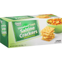 Great Value: Unsalted Tops Crackers, 16 Oz