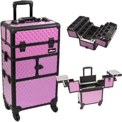 Just Case Sunrise Purple Diamond Trolley Makeup Case