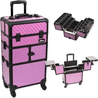 Just Case Sunrise Purple Diamond Trolley Makeup Case