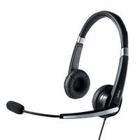 Jabra UC Voice 550 Duo USB Headset w/Noise-Canceling Boom Microphone & In-Line