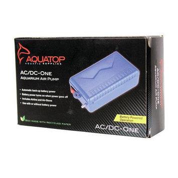 Aquatop Aquatic Supplies Aquarium Air Pump 2.5 L-Min Blue AC-DC-ONE