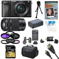 Sony Alpha a6000 24.3MP Camera with 16-50 and SEL 55-210 Lenses 32GB Kit