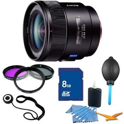 Sony SAL24F20Z - 24mm f/2.0 Wide Angle Lens for Sony Alpha DSLR's Essentials Kit
