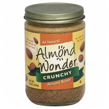 Almond Wonder Crunchy Almond Butter 16 oz - Vegan