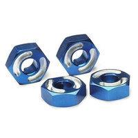 Traxxas TRA4954X 2.5x10mm Aluminum Hex Wheel Hubs with Axle Pins - Blue
