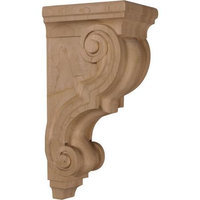 Ekena Millwork 5-in x 14-in Mahogany Traditional Wood Corbel