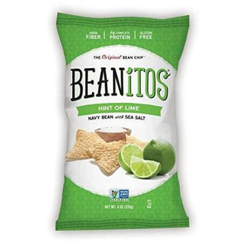Beanitos CHIPS, WHT BEAN, HINT O'LIM, (Pack of 6)