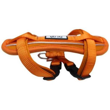 PET LIFE Harnesses and Halters Small Orange Mountaineer Chest Compression Adjustable Reflective Easy Pull Dog Harness HA2ORSM