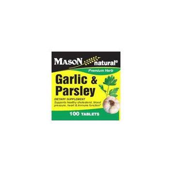 Mason Natural, Garlic & Parsley, 100 Tablets