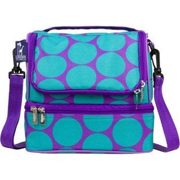 Wildkin Big Dots Aqua Double Decker Lunch Bag