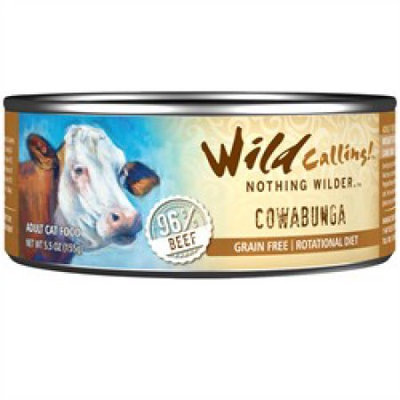 Best Friend Products Corp Wild Calling Cowabunga Beef Can Cat Food 24 Pack