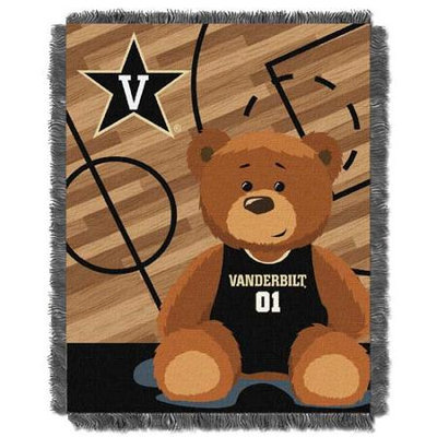 Northwest NOR-1COL044010071RET Vanderbilt Commodores NCAA Triple Woven Jacquard Throw - Fullback Baby Series - 36x48