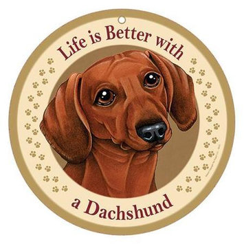 Sjt Enterprises Life Is Better Breed Plaque Dachshund