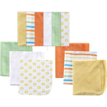 Baby Vision Luvable Friends 12 Pack Washcloths - Yellow