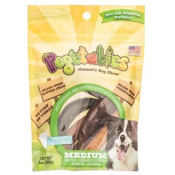 Pegetables Natures Dog Chew - Medium Dental Chews: 8 oz