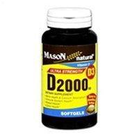 Mason Natural, Vitamin D 2000 IU, 300 Softgels