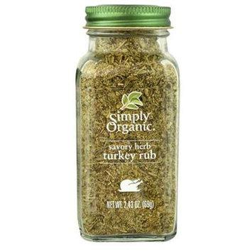 Simply Organic RUB, OG2, HERB TURKEY, (Pack of 6)