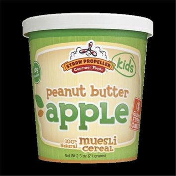 Straw Propeller Gourmet Foods 2.5 oz. Peanut Butter Apple Cold Cereal Muesli Case Pack 12