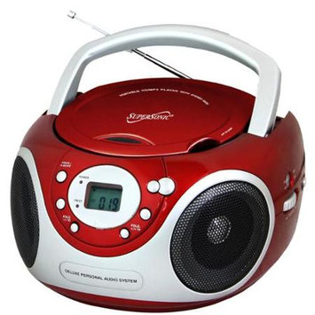 Supersonic SC-505 Radio/CD Player BoomBox - 1 x Disc Integrated Stereo Speaker LCD - CD-DA - Auxiliary Input