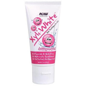 XyliWhite Bubblegum Splash Kids Toothpaste Now Foods 3 oz Gel