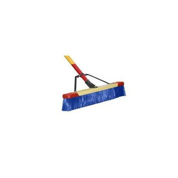 Harper 24in Rough Surface Stiff Push Broom Blue (7924A)