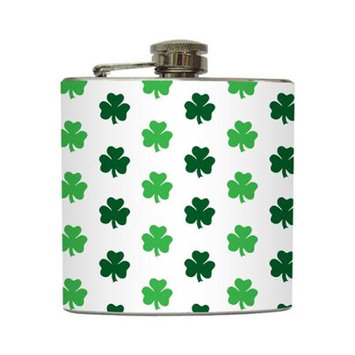 Luck of the Irish - Liquid Courage Flasks - 6 oz. Stainless Steel Flask
